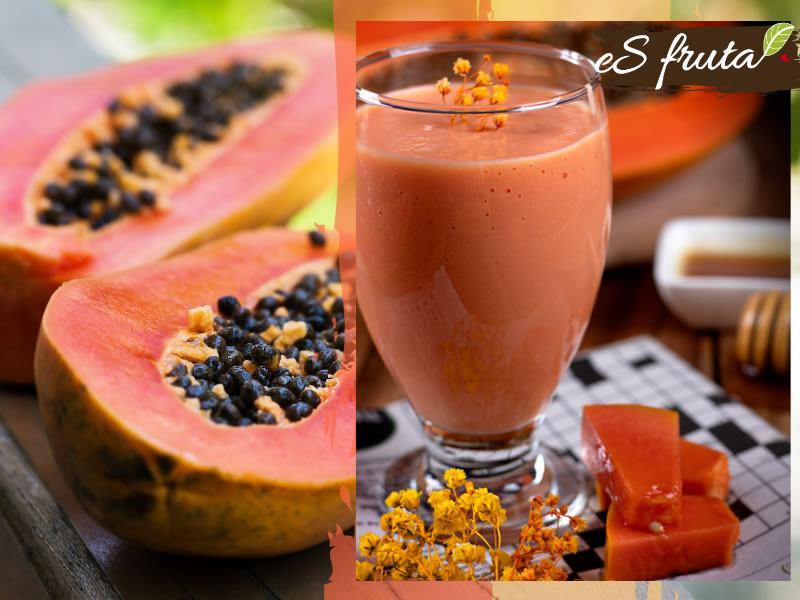 Have a healthy breakfast with a papaya smoothie