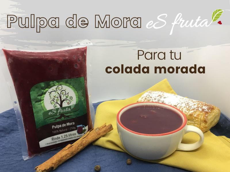 How to prepare colada morada with eSfruta?