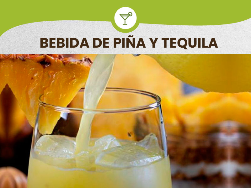 Prepare a delicious drink of Pineapple and Tequila