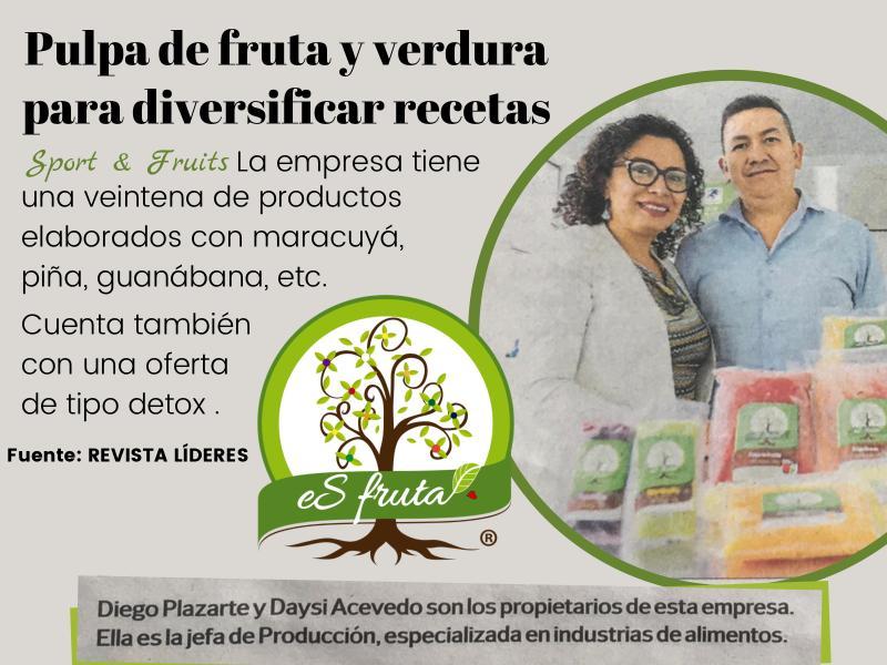 Pulpa de fruta y verduras para diversificar recetas